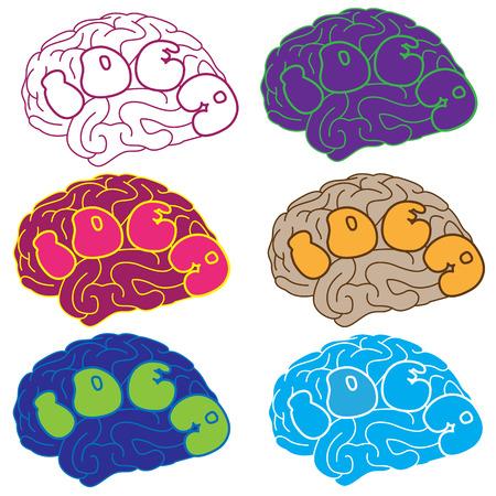 brain illustration: Idea Brain � Illustration