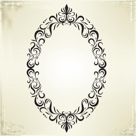 circle frames: Vector Frame and Border on Vintage Background