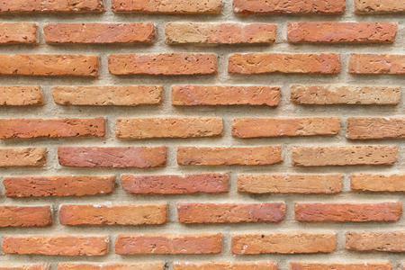 Texture of Old Red Brick Wall Background
