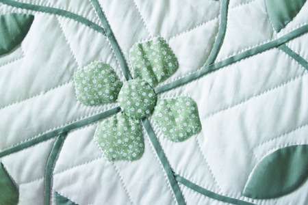 Thai Traditional Handmade Quilted Patchwork Bedspread Flower Pattern