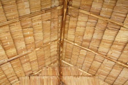 trussing: Primo piano di Thatch Struttura del tetto Archivio Fotografico