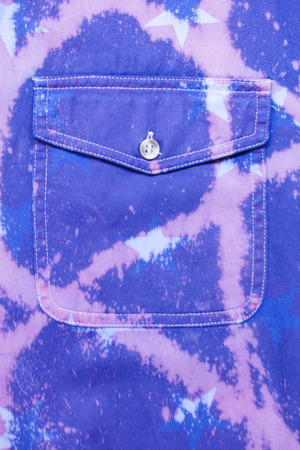 Texture of Blue Denim Jeans with Pocket Background