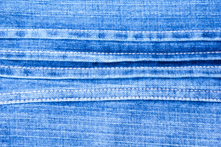 Texture of Blue Denim Jeans Background