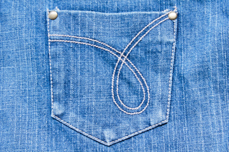Blue Denim Jeans Textuur met Pocket