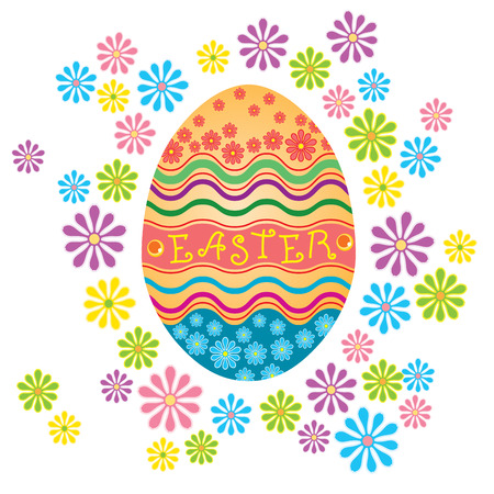 Decorated Easter Eggs Isolated on White Background Illustration