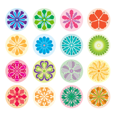 Floral Ornament Pattern Elements