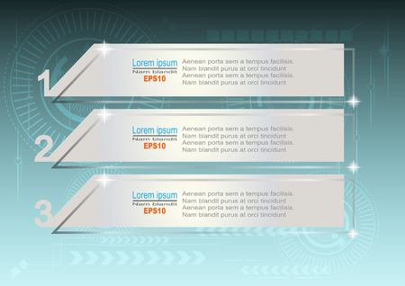 web template: Vector template Infographic Hi-tech blue Web  Design.