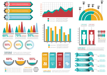infomation: Collection of infographic set elements for business.Vector illustration