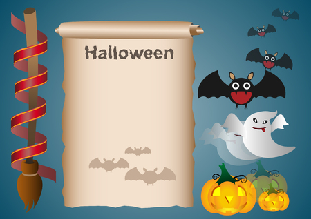 toxic substance: Collection of infographic set elements for Halloween set. Illustration