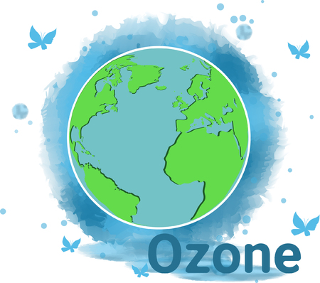 atmosphere: World Ozone Day.vector illustration