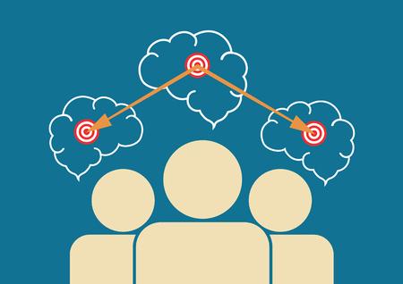 accelerate: Team works for the same goal. Illustration