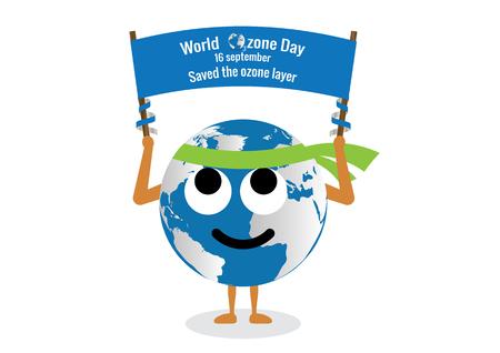 ozone layer: World Ozone Day.vector illustration