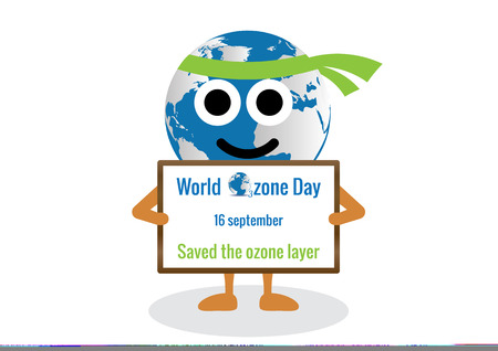 ozone layer: World Ozone Day.vector illustration