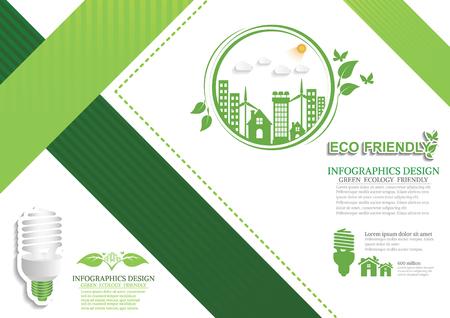 Connexion Ecology concept de fond. Vector illustration infographique Vecteurs
