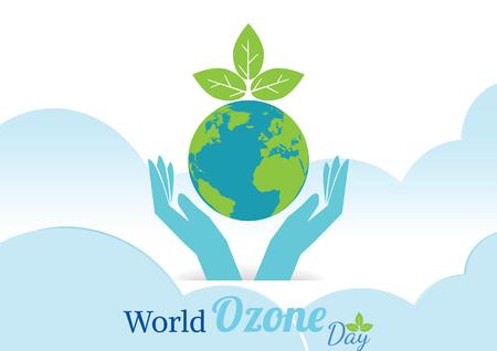 世界オゾン Day.vector 図