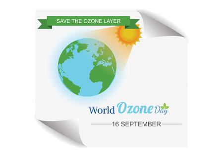 ozone: World Ozone Day.vector illustration