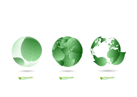 ecology sphere logo Vector illustration Ilustrace