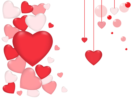 Valentines day vector Beautiful heart card  background. Иллюстрация