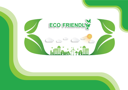 Ecology connection  concept background . Vector infographic illustration Иллюстрация