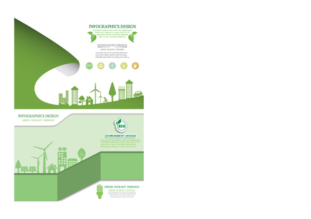 Eco energy concept brochure design template.infographic Vector illustration