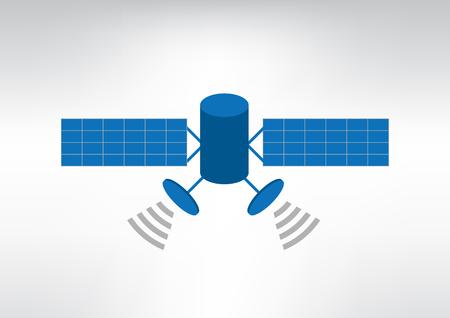 satellite vector illustration Ilustrace