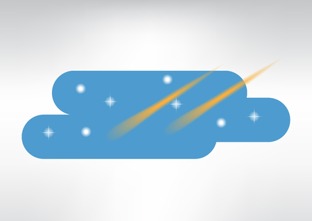 Sky and stars vector illustration