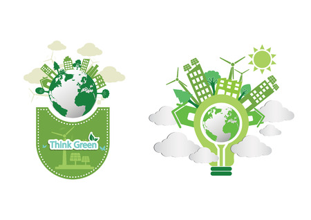 Ecology infographic connection concept background Vector  illustration