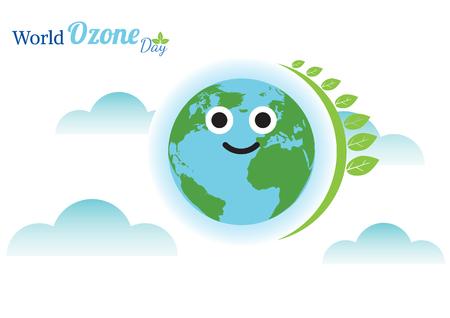 World Ozone Day vector illustration Illustration