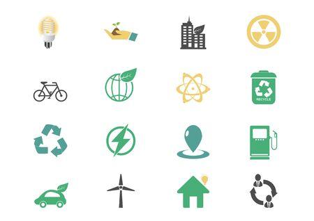 eco icon energy Vector illustration