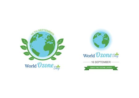 Giornata Mondiale dell'Ozono. illustrazione vettoriale