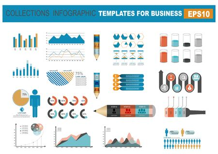 Infographics elements for business. Vector illustration Иллюстрация