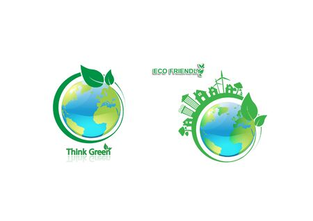 Ecology connection  concept background. Vector infographic illustration