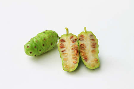 great morinda: Cut Great Morinda on the white background