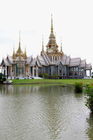 Beautiful church at Non Kum Temple located in Nakornratchasima province, Thailand Stock Photo