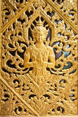 cabeza de buda: La puerta Themple Wang Ma templo ahora, Tailandia
