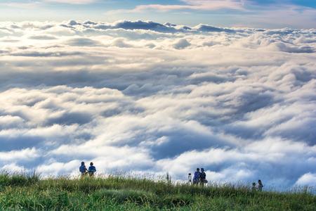sea of fog at at khao kho -Phu Tub Berg Mountain in Thailand