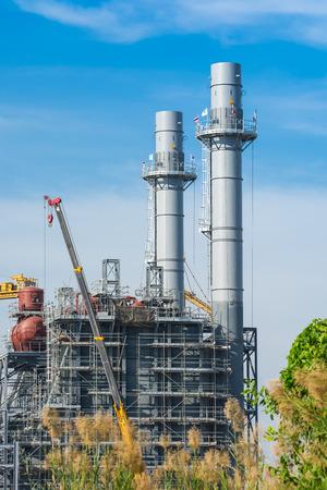 produce energy: Amata Powerplant  under construction  in Thailand Stock Photo