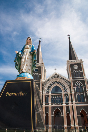 The Cathedral of the Immaculate Conception at Chantaburi in Thailand photo