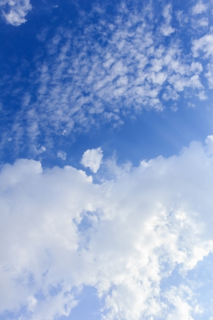 hi resolution: Blue sky and white clouds, may be used as background Stock Photo