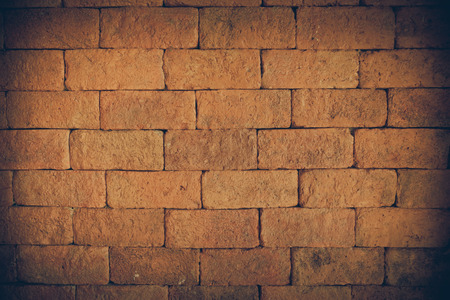 Old brick wall background color used for text input. photo