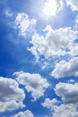 sun sky: Clouds and sun sky Stock Photo