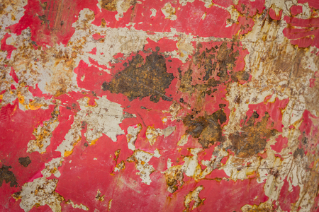 rust: Wall surface rust and old paint cracks as a background for the text. Stock Photo