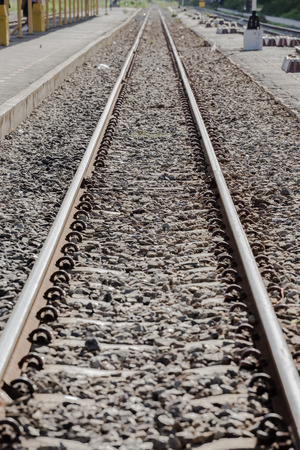 The railway tracks are a symbol of the Transport and Tourism.