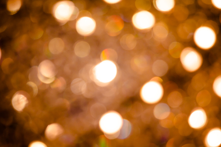 silver: Bokeh golden yellow tones from light vintage celebrations as abstract background. Stock Photo