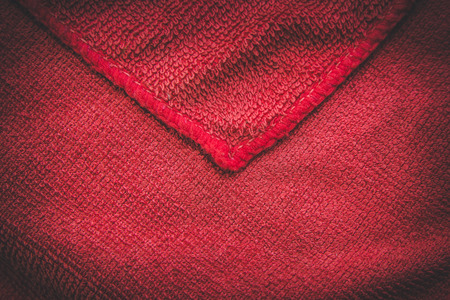 close range: Background of red fabric close range with space for a message. Stock Photo