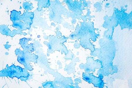 Abstract blue watercolor crack spread background use as a visual and design.
