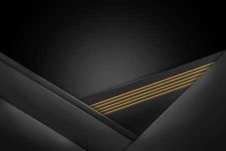 background black color overlap layer poster cover modern color. illustration abstract geometrical Standard-Bild