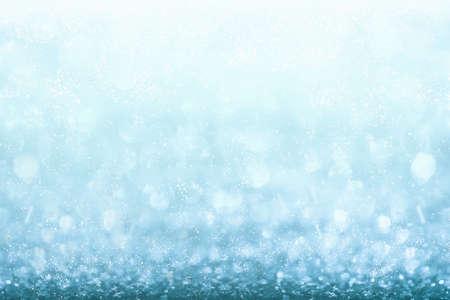 blue glitter background. Abstract Shiny glitter bokeh christmas background.
