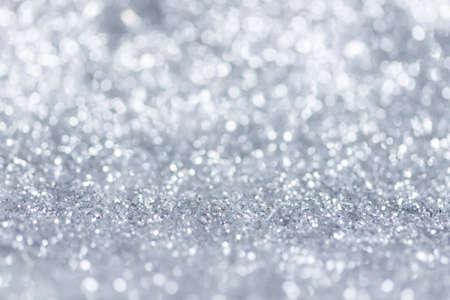 White,Silver glitter vintage lights background defocused for festivals and celebrations. Reklamní fotografie
