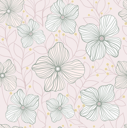abstract art background: Flower pattern background. Seamless Pattern Background. Illustration